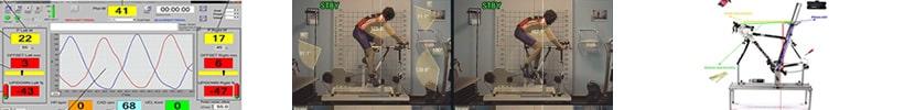 Riequilibrio posturale in sella sul ciclosimulatore